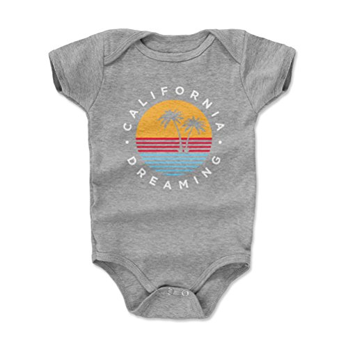 (500 LEVEL California Baby Clothes, Onesie, Creeper, Bodysuit - 3-6 Months Heather Gray - California Dreaming)