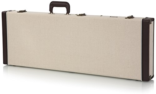 Gator Cases Journeyman Series Deluxe Wood Case for Standard Electric Guitars; Fits Fender Stratocaster/Telecaster, & More (GW-JM-ELEC) (Stratocaster Case Deluxe)