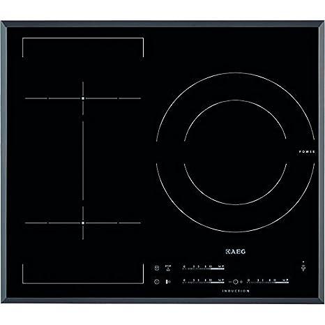 AEG HKL65310FB hobs - Placa (Integrado, Inducción, Vidrio y cerámica, Sensor, Parte superior delantera, 7400W)