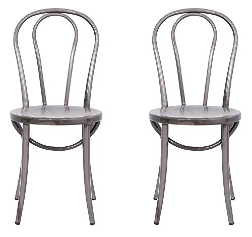 Bistro Chair in Distressed Metal