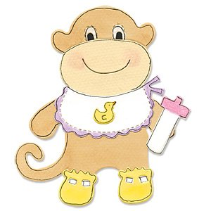 Sizzix Monkey Animal Dress Ups Bigz Die