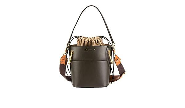 c53c0de327 Chloe Roy Medium Smooth Leather Bucket Bag made in Italy  Handbags   Amazon.com