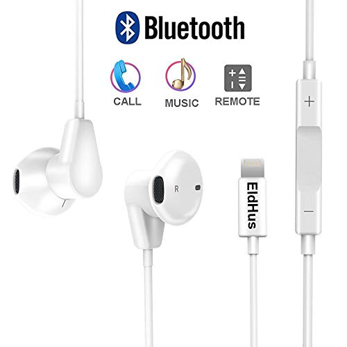-0004 Earphones Headphones Compatible with IP 7, Bluetooth Earbuds Headset Wired, Full Black ()