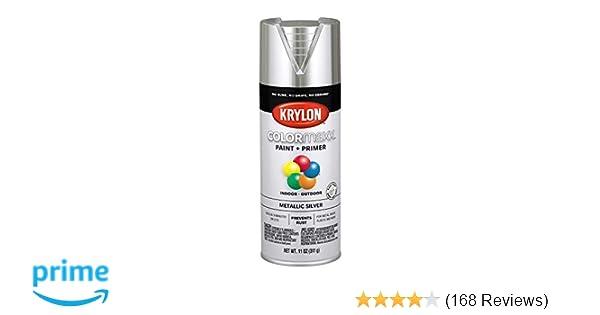 Krylon K05590007 COLORmaxx Spray Paint, Aerosol, Silver