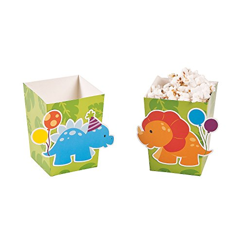 Little Dinosaur Popcorn Boxes. (24 pcs) Size: 4