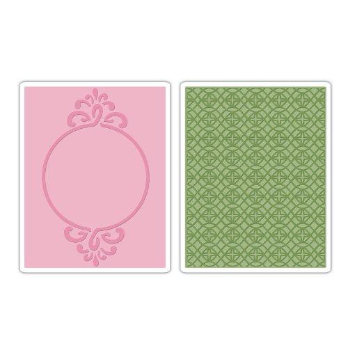 Circle Frame /& Sparkling Set Sizzix Textured Impressions Prägefolder 2tlg