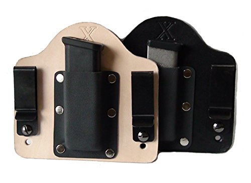 FoxX Holsters Leather and Kydex Hybrid IWB Magazine Carrier Beretta BU9 Nano Holster (Black)