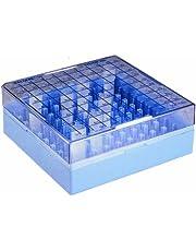 Nalgene 5026-0909 Polycarbonate CryoBox Vial Rack, 133mm Length x 133mm Width x 52mm Height, 9 x 9 Array, 81 Place (Pack of 4)