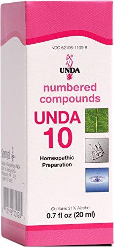 UNDA - UNDA 10 Numbered Compounds - Homeopathic Preparation - 0.7 fl oz (20 ml)