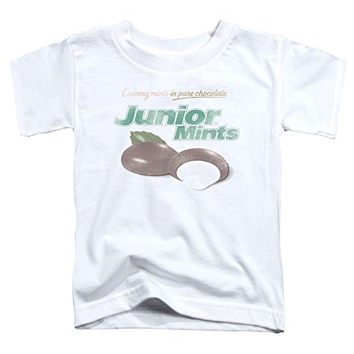 Tootsie Roll Chocolate Candy Junior Mints Logo Little Boys Toddler T-Shirt Tee (Printed Wrapped Mints)