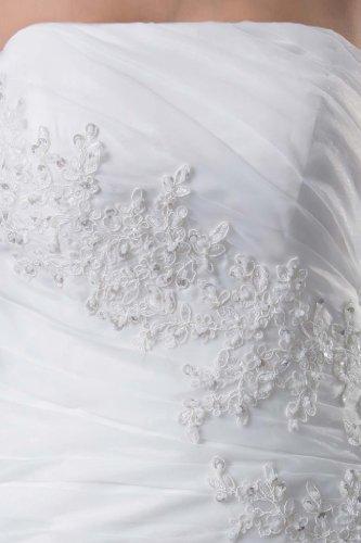 Elegant Spitze A Brautkleider Linie Hochzeitskleider mit Elfenbein GEORGE Design BRIDE Jacke Neu 5qZzxw47