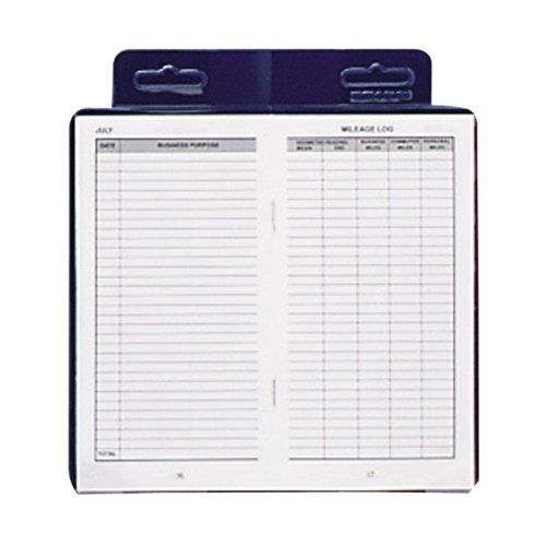 "Wholesale CASE Of 25   Dome Publishing Deluxe Auto Mileage Log Book Deluxe Automobile Mileage Log Book, 3 1/4""x6 1/4"", Blue"