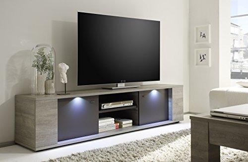 LC spa 207701-01 TV Schrank Sidney gross inklusive Beleuchtung, 190 x 45 x 43 cm, Holznachbildung