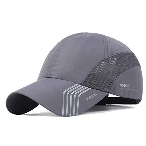 Clape Sun Visor Hats Baseball HatsUPF50+ Sports Hat Outdoor Lightweight Waterproof Breathable Ultra Thin Cooling Cap Dark Gray, 56-59CM
