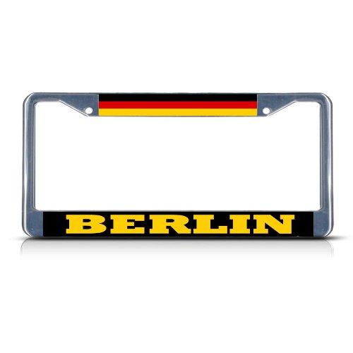 GERMANY BERLIN Chrome Heavy Duty Metal License Plate Frame Tag - Berlin Frames