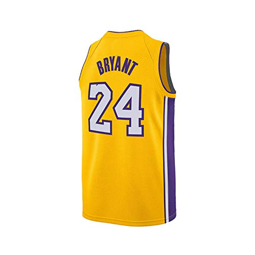 2b2c01a8908 Mens Kobe 24 Basketball Bryant Jersey Los Angeles Yellow Size (Yellow,  X-Large)