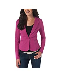 Lrud Women Notched Lapel Long Sleeve Slim Fitted Work Casual Blazer Suit Jacket