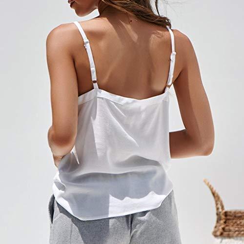 BlouseFormato Women T bianco shirt Solid ampios Bra 2xl Bustier SummerZolimx donna sportivo ~ Top Cotton Crop IYE2DH9W