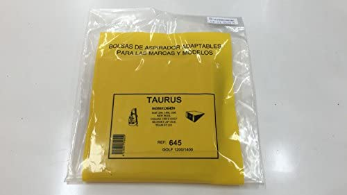RECAMBIOS DREYMA Bolsas Papel Aspirador SOLAC, Taurus 5 Unidades.: Amazon.es: Hogar