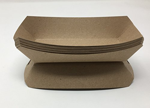 Mr. Miracle Kraft Paper Food Tray. 5-Pound Size. Pack of 100. Disposable, Recyclable and Fully Biodegradable. Made in USA by Mr Miracle
