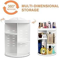 Amazon com: 360 Degree Rotation Makeup Tower Organizer, Lazy