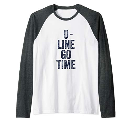 Offensive Lineman Shirt For Men Gift Gear Funny Football Raglan Baseball Tee