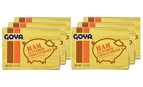 Smoked Ham In Bone - Goya Ham Flavored Concentrated Seasoning 1.41oz | Sabor a Jamon (Pack of 06)