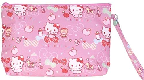 Cute Hello Kitty Pattern Zipper Cosmetic Bag Travel Toiletry Pouch Stationery Case Wristlet - Hello Bag Kitty Cosmetics