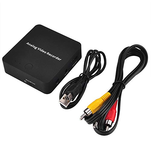 Camcorders Memory Card Rca Audio (Runshuangyu HD Analog Digital Video Recorder AV Video Capture Card Adapter for Camcorder Tape, VHS, VCR, DVD Player, DVR, Hi8, Game Player AV Out and HDMI Out)