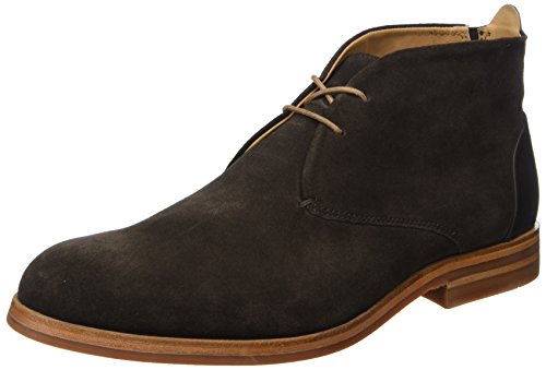 Mens H By Hudson Matteo Casual Smart Office Scarpe Scamosciate Chukka Stivali Marrone