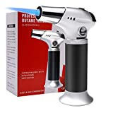 Amriu Blow Torch, Professional Kitchen Cooking Torch with Safety Lock Adjustable Flame Refillable Mini Blow Torch Lighter for Crafts Cooking BBQ Baking - (Black) - (Butane Gas Not Included)