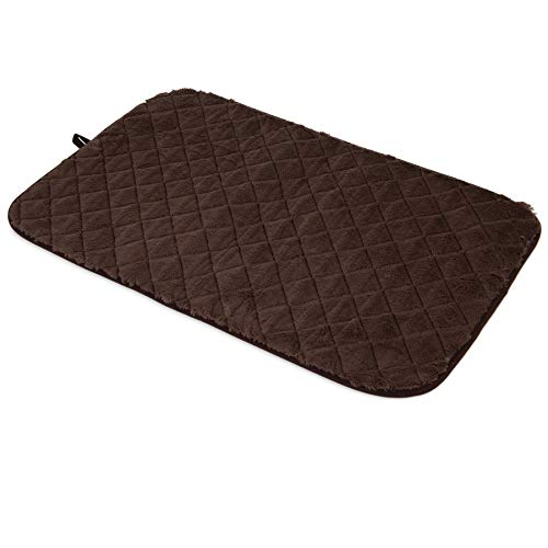 SNOOZZY BROWN 35X21.5 QUILTED MAT