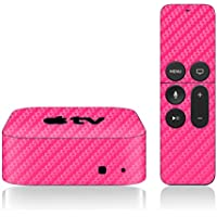 iCarbons Pink Carbon Fiber Skin for Apple TV 4th Gen. / Remote Skin Included 4th Generation