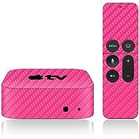 iCarbons Pink Carbon Fiber Skin for Apple TV 4th Gen. / Remote Skin Included 4th Generation