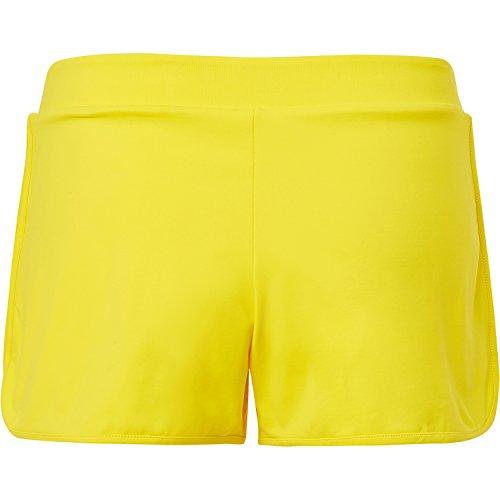 Sportkind Mädchen & Damen Tennis / Volleyball / Sport 2-in-1 Shorts mit Innenhose, gelb, Gr. L
