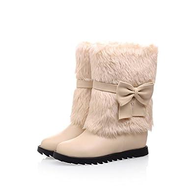 Amazon.com | Women's Sweet Bowknot Round Toe Snow Boots