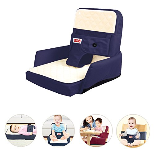 Price comparison product image Baby Lounger,  Tataar Multifunction Portable Travel Breathable Folding Infant Sleeper Baby Bed,  Can be Used as a Baby Cot,  a Baby Sofa,  a Baby Chair,  a Baby Dinning Belt (Blue)