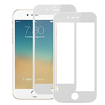 ?2 PACK?iPhone 6 Tempered Glass Screen Protector, 3D Curved Full Coverage Edge to Edge Anti-Bubble for Apple iPhone 6S 4.7inch