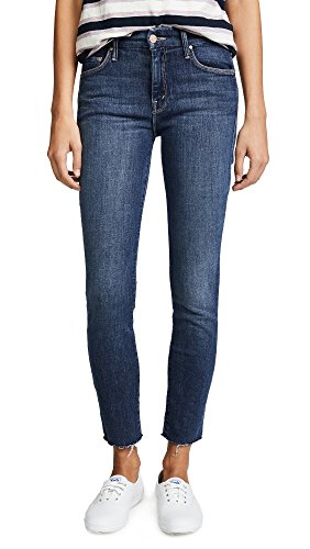 MOTHER Women's The Looker Ankle Fray Jeans, Girl Crush, 27 (Fray Denim)