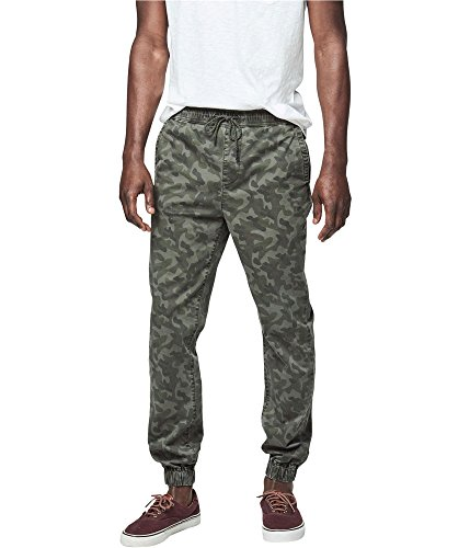 Aeropostale Mens Camo Casual Jogger Pants, Green, Large