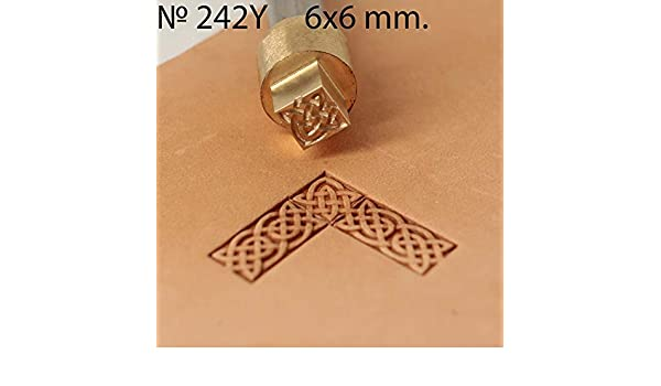 Leather Stamp Tool Stamping Working Carving Punches Tools Craft Saddle Brass #242Y