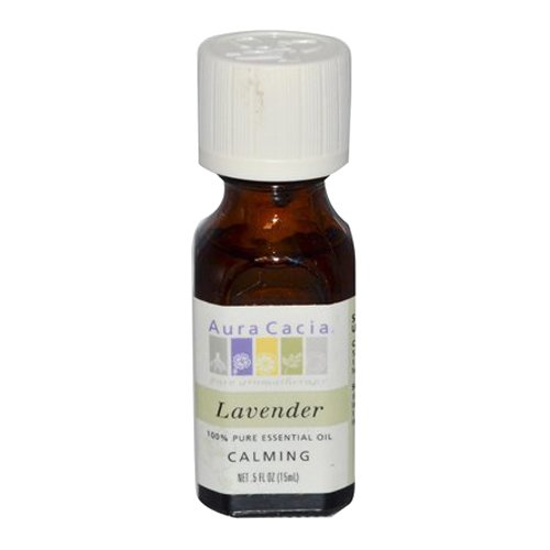 Aura Cacia Pure Essential Oil, Lavender, 0.5 Fluid Ounce - Perfume Aura Natural Cacia