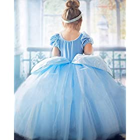 - 41JJtVJrwML - Children Princess Dress Up Costume Cosplay Dress for Girls Toddlers Party Birthday Girls Dresses Wonderful Gift