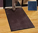 Walk Off Floor Mat - Carpet Mat Classic - 3' x 5' - Speckled Blue - Economy Grade Indoor Entry Mat