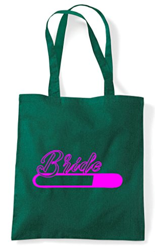 Hen Customised Party Loading Dark Bride Bag Personalised Do Green Shopper Tote qqPr5Bw4