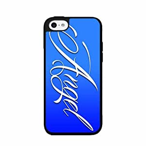 Angel on Blue Background- 2-Piece Dual Layer Phone Case Back Cover iPhone 4 4s