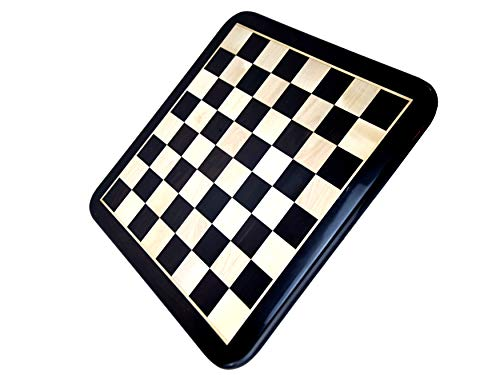 ROOGU Luxury Chess Board Minotaur XL 18'' Ebony Boxwood Rounded Corners Edges