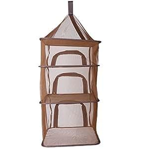 Para colgar 4capas red plegable recibir cesta para interior y exterior para cubertería frutas verduras al vapor pescado seco accesorio de