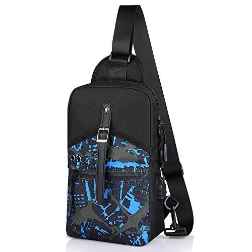 USB Body bolsas para maletín hombro Bolsa Viaje trabajo Laptop Bolsa Uni Deporte Hombre interfaz Business lona hombro Cross Hombre oficina Funda Bolsa de Bandolera clásico con funda nv1xqwa