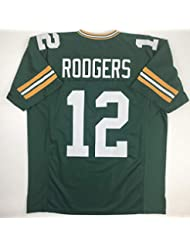 Unsigned Aaron Rodgers Green Bay Green Custom Stitched Football Jersey Size XL New No Brands/Logos